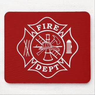 Cruz maltesa Mousepad do departamento do fogo