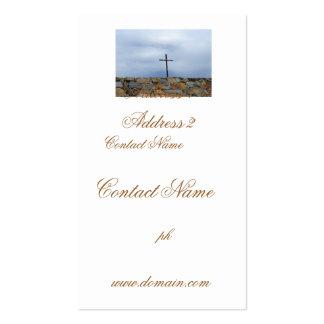 Cruz memorável cartão de visita