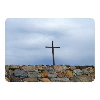 Cruz memorável convite 12.7 x 17.78cm