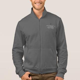 Cruz nunca masculina do sólido da jaqueta w/Black