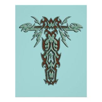 Cruz ornamentado cristã 10 flyer 21.59 x 27.94cm