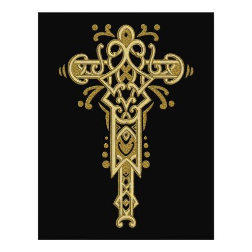 Cruz ornamentado cristã 26 modelos de panfleto