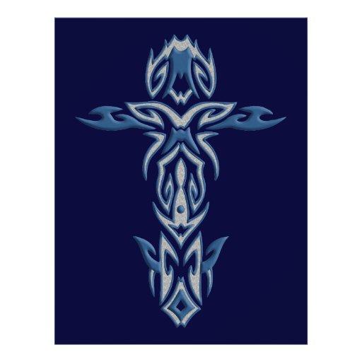 Cruz ornamentado cristã 29 modelo de panfletos