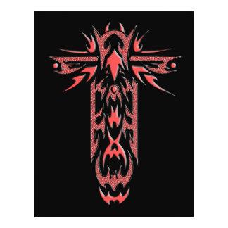 Cruz ornamentado cristã 2 flyer 21.59 x 27.94cm