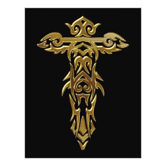 Cruz ornamentado cristã 30 modelo de panfletos