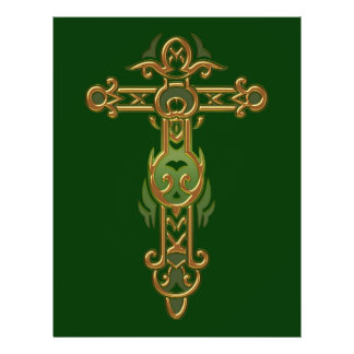 Cruz ornamentado cristã 31 flyer 21.59 x 27.94cm