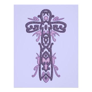 Cruz ornamentado cristã 32 panfletos coloridos