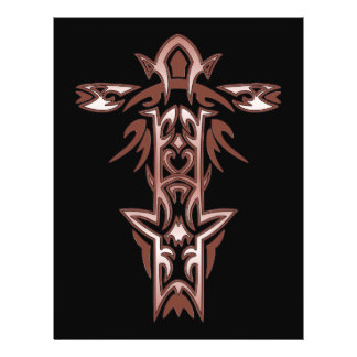 Cruz ornamentado cristã 34 flyer 21.59 x 27.94cm