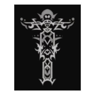Cruz ornamentado cristã 37 modelo de panfleto
