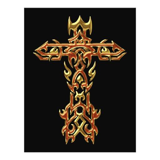 Cruz ornamentado cristã 45 modelos de panfleto