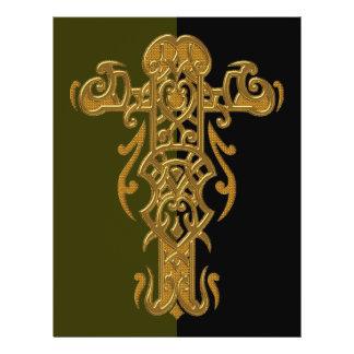 Cruz ornamentado cristã 49 flyer 21.59 x 27.94cm