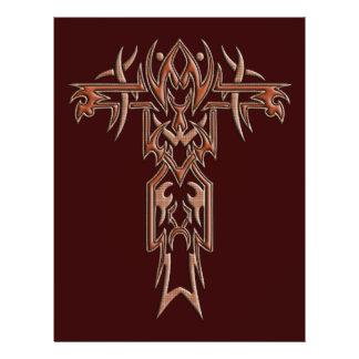 Cruz ornamentado cristã 4 flyer 21.59 x 27.94cm