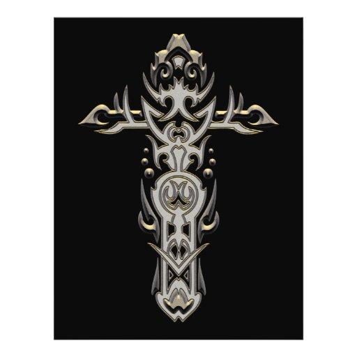 Cruz ornamentado cristã 57 panfletos coloridos