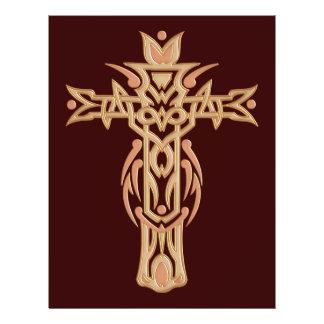 Cruz ornamentado cristã 60 modelo de panfletos