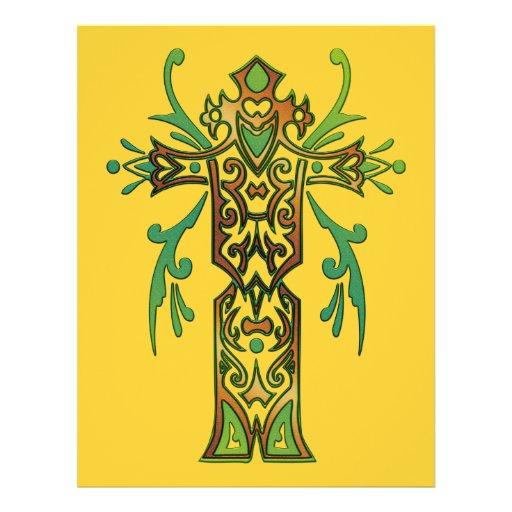 Cruz ornamentado cristã 64 panfleto