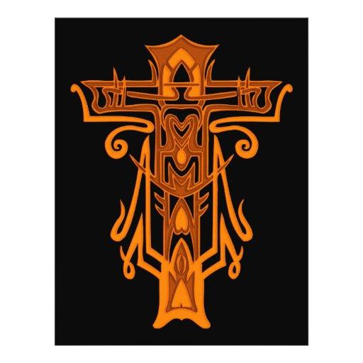 Cruz ornamentado cristã 65 panfleto