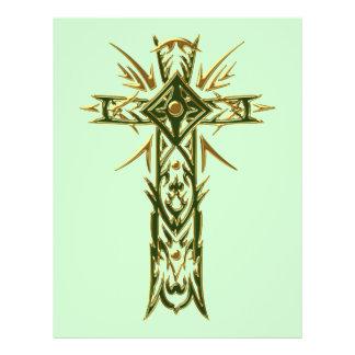 Cruz ornamentado cristã 68 flyer 21.59 x 27.94cm