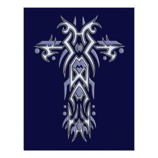 Cruz ornamentado cristã 6 flyer 21.59 x 27.94cm