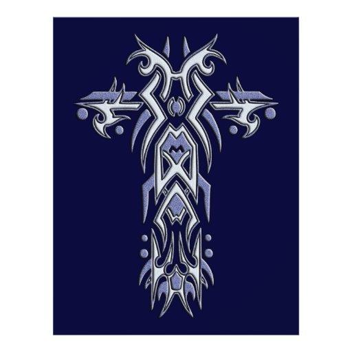 Cruz ornamentado cristã 6 panfleto coloridos