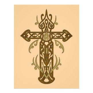Cruz ornamentado cristã 70 panfleto personalizado