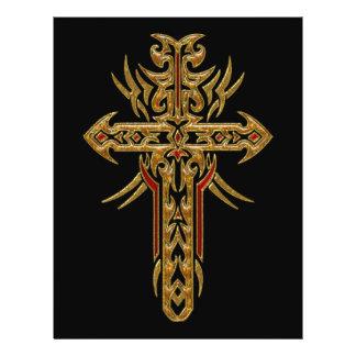 Cruz ornamentado cristã 71 panfleto