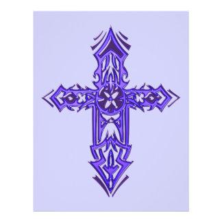 Cruz ornamentado cristã 75 panfletos coloridos