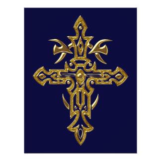 Cruz ornamentado cristã 77 panfletos personalizado