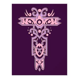 Cruz ornamentado cristã 7 panfletos personalizado