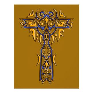 Cruz ornamentado cristã 8 flyer 21.59 x 27.94cm