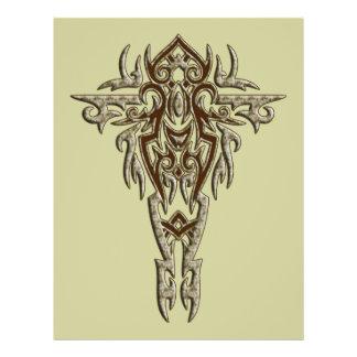 Cruz ornamentado cristã 9 flyer 21.59 x 27.94cm