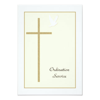 Cruz & pomba do convite da classificação da igreja