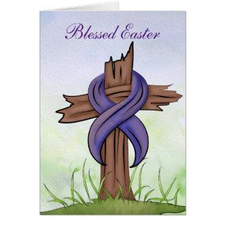 Cruz religiosa cartão de nota
