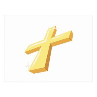 Cruz religiosa cartão postal