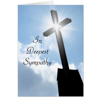 Cruz religiosa no cartão o mais profundo da simpat