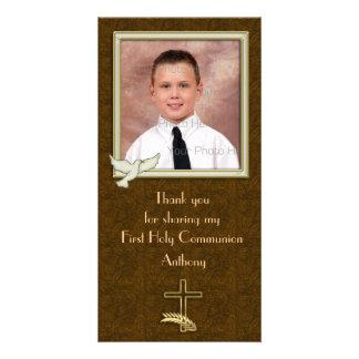 Cruz religiosa Paisley da pomba Cartão Com Foto
