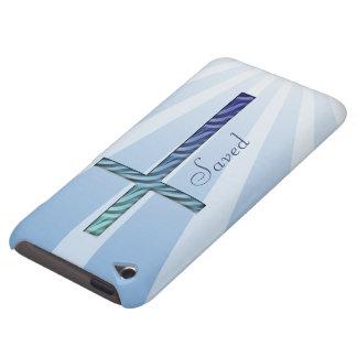 Cruz religiosa Rippled Salvar-Azul Capa Para iPod Touch