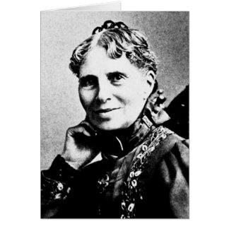 Cruz vermelha americana do fundador de Clara do ~ Cartão Comemorativo