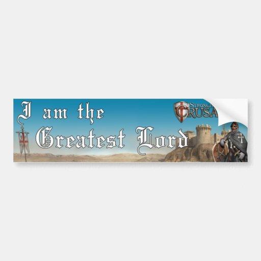 Cruzado da fortaleza - o grande senhor 1 adesivo