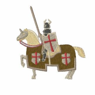 Cruzado medieval de Templar dos cavaleiros Camiseta Bordada Polo