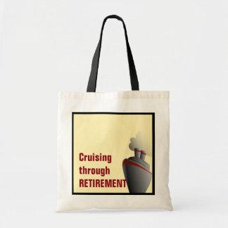 Cruzamento com o amarelo da aposentadoria sacola tote budget