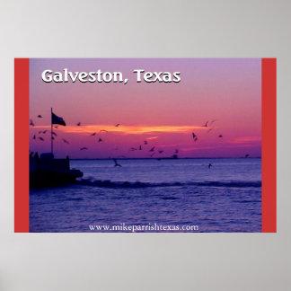 Cruzamento de balsa de Galveston Texas Posteres