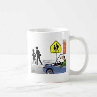 Cruzamento de escola caneca de café