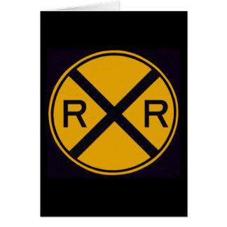 Cruzamento de estrada de ferro cartão comemorativo