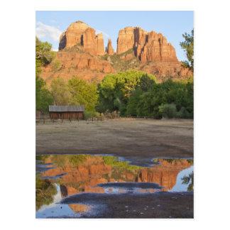 Cruzamento vermelho da rocha, cartão da arizona de