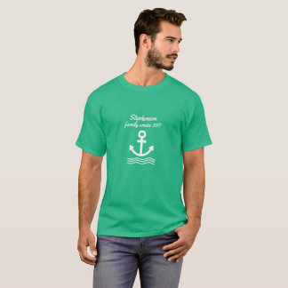 Cruzeiro da família com âncora e ondas camiseta