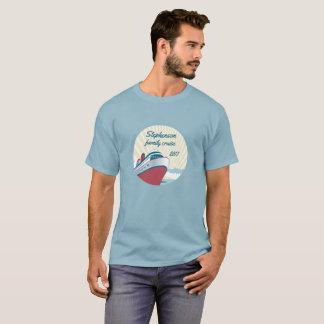 Cruzeiro da família com navio de cruzeiros retro camiseta