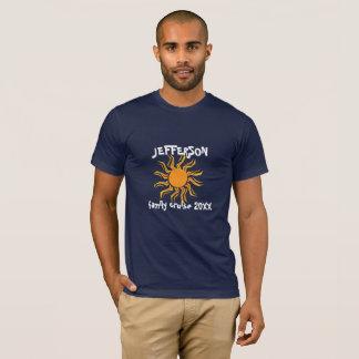 Cruzeiro louco da família do sol camiseta