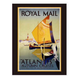 Cruzeiros de Royal Mail Atlantis - cartão do