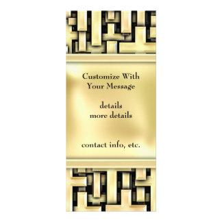 Cruzes douradas 10.16 x 22.86cm panfleto