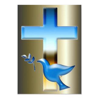 Cruzes e cenas de domingo da páscoa e de palma convites